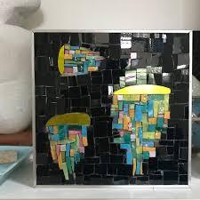 neon colours mosaic art glass mosaic