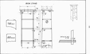 plate 18 book stand mechanical drawing 91