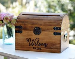 wedding baskets & boxes etsy Wedding Card Holder Chest personalized wedding card box, wood wedding card box with slot, 5th anniversary gift, treasure chest wedding card holder
