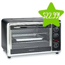 beach convection toaster oven ft 6 slice hamilton countertop with rotisserie black c