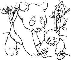 Small Picture Coloring of Page Realistic Zoo Animals Giant Panda coloring