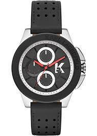 amazon com karl lagerfeld kl1412 black leather chronograph men s karl lagerfeld kl1412 black leather chronograph men s watch