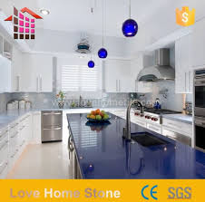 solid white and blue hanstone quartz countertops with competitive suppliers china customized ation love home tile