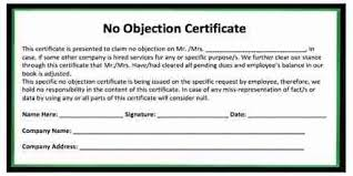 no objection letter sample for job no objection certificate format for leaving job assignment point noc