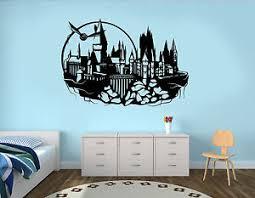 image is loading hogwarts wall decal harry potter castle vinyl sticker  on castle wall art mural with hogwarts wall decal harry potter castle vinyl sticker kids art decor