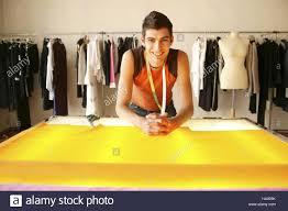 Fashion Designer Part Time Job Tailoring Man Young Tape Measure Substance Smile