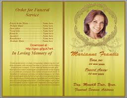 Funeral Program Word Template New Free Funeral Program Templates Download Google
