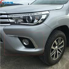 2016 2017 for toyota hilux accessories chrome fog lights eyebrows trim for toyota hilux revo