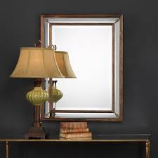 Decorating: Remarkable Wood Wall Mirrors Decorative Design With Patterned  Metal Frame - Oval Wall Mirrors