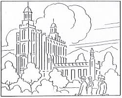 Small Picture logan temple coloring page LDS Lesson Ideas