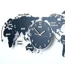 world clocks for wall world wall clock modern simple geometric wall clock world map creative decoration