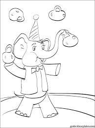 Circusolifant Kleurplaat Gratis Kleurplaten