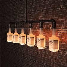 Jim Beam Glas Bier Flasche Kronleuchter Beleuchtung