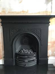 gallery pembroke cast iron fireplace with electric fire insert