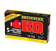 20 Gauge Ballistics Chart K O Brenneke Ammunition