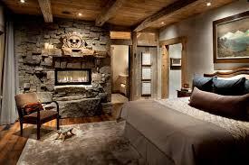 cozy bedroom design. Cozy-Bedroom-Ideas-with-Stoned-Fireplace Cozy Bedroom Design