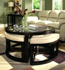 leather upholstered coffee table coffee table with ottomans awesome round storage coffee table ottomans coffee table