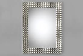 modern rectangular mirror u2013 silver wood frame o7 mirror