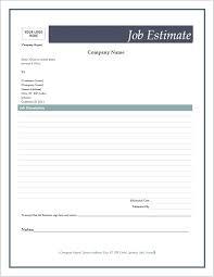 free estimate form estimate templates