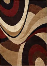 modern curves brown area rug 9x12 contemporary waves carpet actual