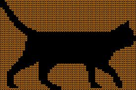 Cat Knitting Chart Halloween Black Cat Knitting Chart
