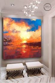 sunset painting extra large wall art