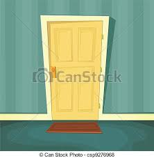 front door clipart. Cartoon Front Door - Csp9276968 Clipart