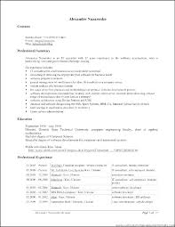 One Page Resume Format For Freshers – Globalhood.org
