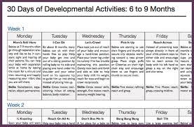 30 Day Activity Calendars Play Developmental Activities