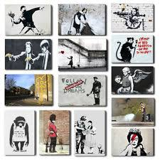 banksy maid hope pulp fiction canvas wall art print free hangers many designs on banksy wall art prints with banksy canvas police ebay