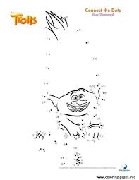Trolls Coloring Pages Printable New Print Guy Diamond Connect The