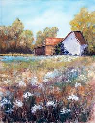 farm house oil painting fine arts gallery original art