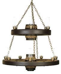 double tier lantern reion cast wagon wheel chandelier
