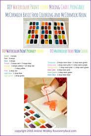 Diy Paint Color Chart Diy Watercolor Paints Flour On My Face