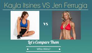 kayla itsines bbg vs jen ferrugia s body workout