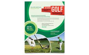Golf Tournament Flyer Ad Template Design