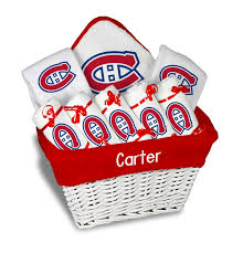personalized montreal canans large gift basket