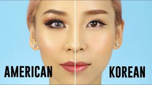 american vs korean style makeup 2017