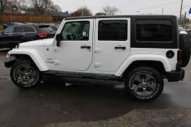 awesome bright white jeep wrangler jk unlimited left side photo in waterloo on with jeep rubicon 4 door