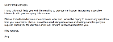 emailing a resumes