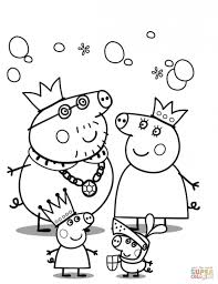 Small Picture Coloring Pages Mummy Pig In Winter Suit Coloring Page Free