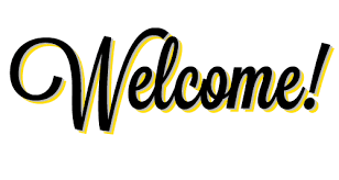Welcome writing in Black and Yellow