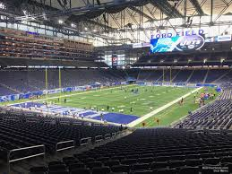 seat view for ford field section 120