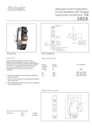 entek miniature circuit breakers mcbs and rcbos rcd mcb 4 residual current operated circuit breakers integral overcurrent protection dbl srcb single pole wiring diagram