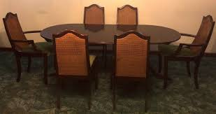 meredew mahogany dark wood extendable dining table 6 matching chairs carvers