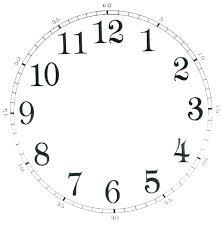 Free Clock Template Digital Time Worksheets Beautiful Card