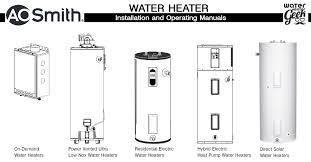 ao smith gas water heater. A.O. Smith Water Heater Manuals Ao Gas