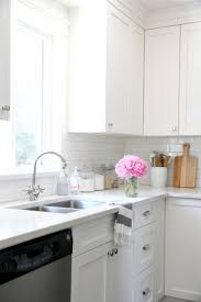 gallery kitchen frosty carrina benchtop tiled