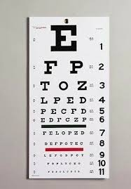 Graham Field Snellen Eye Test Chart 1240 8 95 Picclick