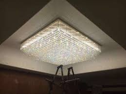 crystal chandelier shape cylindrical round square